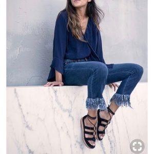 Blank NYC Fringe Skinny Crop Jeans